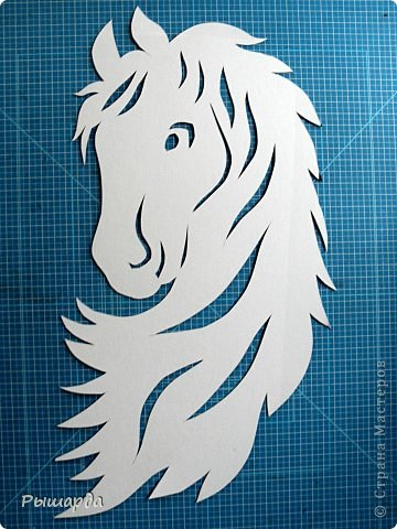 Поделка изделие Новый год Вырезание символ лошади из бумаги мой шаблон Бумага фото 1