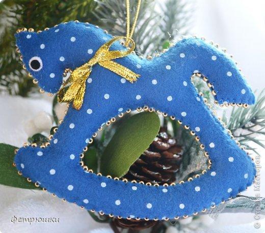 Поделка изделие Новый год Шитьё Детские елочные игрушки Фетр фото 4