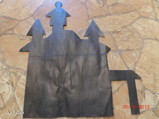 Мастер-класс Поделка изделие Вырезание Дом с привидениями   Бумага Клей Нитки фото 4