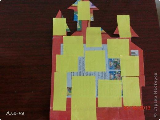 Мастер-класс Поделка изделие Вырезание Дом с привидениями   Бумага Клей Нитки фото 6