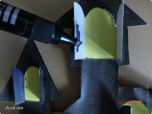 Мастер-класс Поделка изделие Вырезание Дом с привидениями   Бумага Клей Нитки фото 8