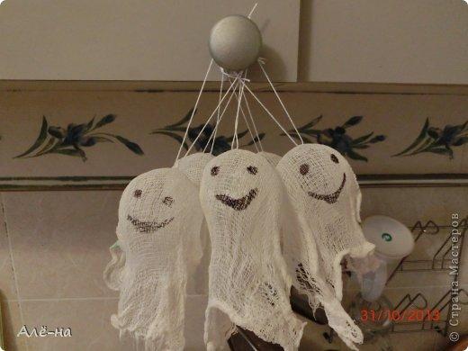 Мастер-класс Поделка изделие Вырезание Дом с привидениями   Бумага Клей Нитки фото 15