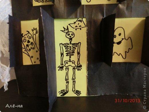 Мастер-класс Поделка изделие Вырезание Дом с привидениями   Бумага Клей Нитки фото 16
