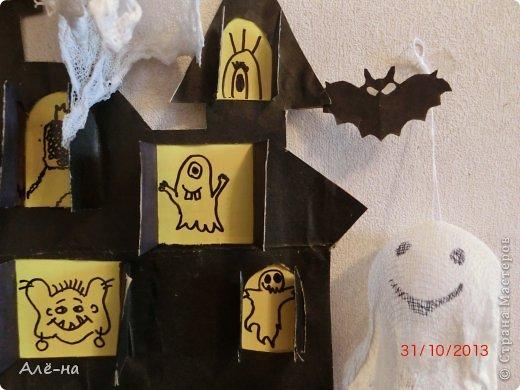 Мастер-класс Поделка изделие Вырезание Дом с привидениями   Бумага Клей Нитки фото 18