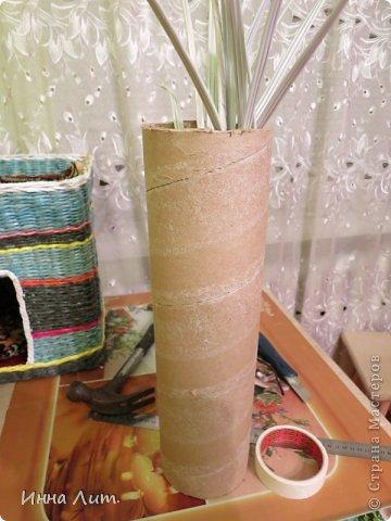 Вот такая получилась ваза из ничего(т.е. из мусора) фото 5