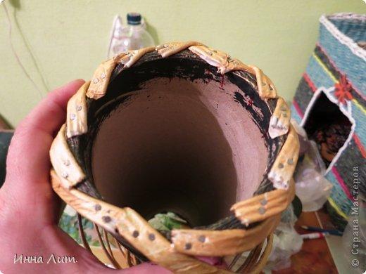 Вот такая получилась ваза из ничего(т.е. из мусора) фото 7