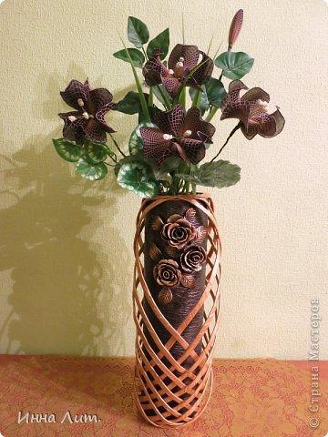 Вот такая получилась ваза из ничего(т.е. из мусора) фото 9