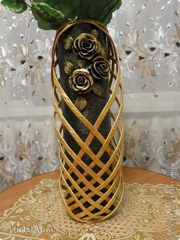 Вот такая получилась ваза из ничего(т.е. из мусора) фото 1