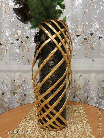 Вот такая получилась ваза из ничего(т.е. из мусора) фото 3