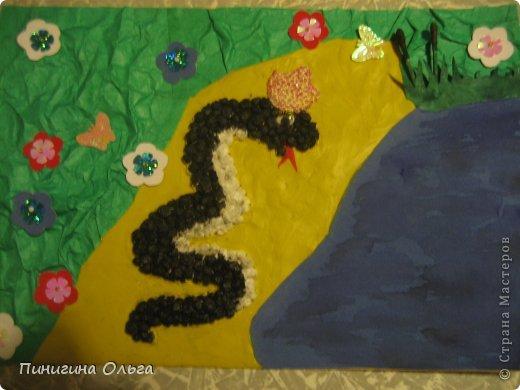 Водяная черная змея.
