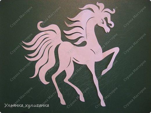 Поделка изделие Новый год Вырезание Лошади кони вытынанки Бумага фото 17