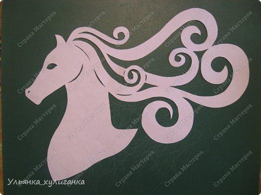 Поделка изделие Новый год Вырезание Лошади кони вытынанки Бумага фото 19