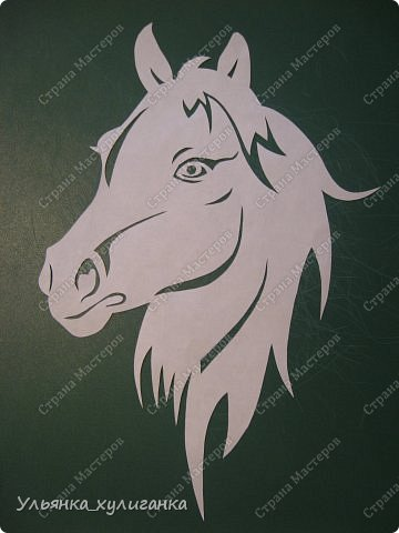 Поделка изделие Новый год Вырезание Лошади кони вытынанки Бумага фото 23