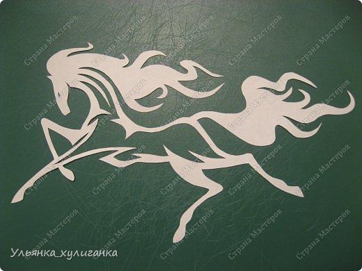 Поделка изделие Новый год Вырезание Лошади кони вытынанки Бумага фото 1