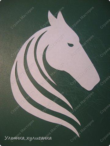 Поделка изделие Новый год Вырезание Лошади кони вытынанки Бумага фото 3