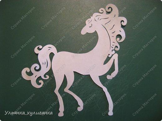 Поделка изделие Новый год Вырезание Лошади кони вытынанки Бумага фото 7