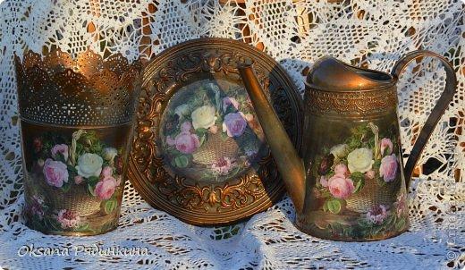 Декор предметов Декупаж Наступило Time of roses    фото 1