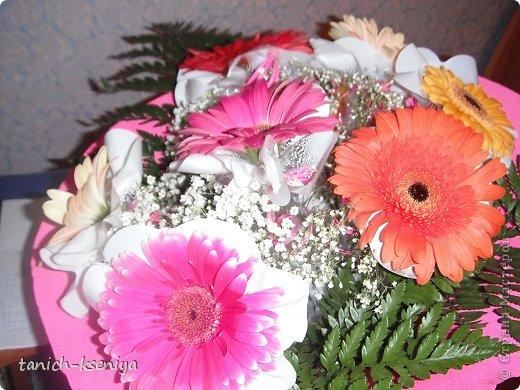 """Идея пришла мне в голову, когда начал увядать букет цветов подаренный мне на день рождения. Вот такой """"Букетик невесты"""" у меня получился. Рассказываю.... фото 3"""
