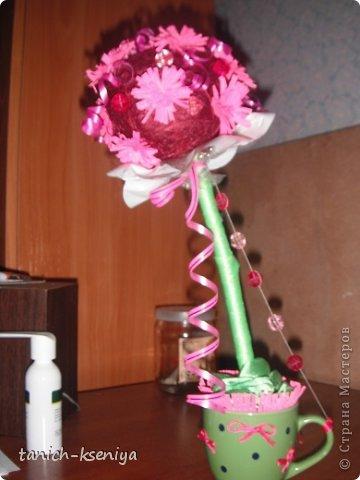 """Идея пришла мне в голову, когда начал увядать букет цветов подаренный мне на день рождения. Вот такой """"Букетик невесты"""" у меня получился. Рассказываю.... фото 1"""