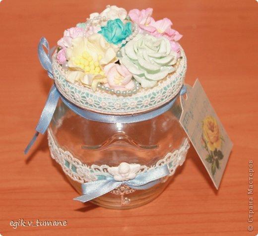 Декор предметов Скрапбукинг Баночка 101 причина почему я люблю тебя Банки стеклянные Бумага Кружево фото 2