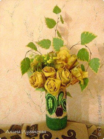 Пробные розы из кленовых листьев