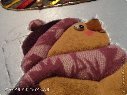 Картина панно рисунок Мастер-класс Новый год Аппликация Пэчворк В ОЖИДАНИИ ВОЛШЕБСТВА Бусинки Пенопласт Ткань фото 28