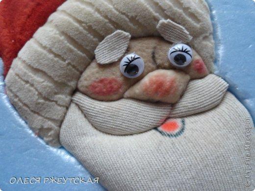 Картина панно рисунок Мастер-класс Новый год Аппликация Пэчворк В ОЖИДАНИИ ВОЛШЕБСТВА Бусинки Пенопласт Ткань фото 32