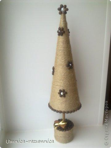 Поделка изделие Новый год Моделирование конструирование мои елочки Ленты Сетка Шпагат фото 1