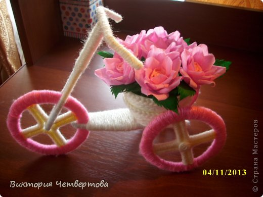 Велосипед с цветами своими руками мастер класс 180