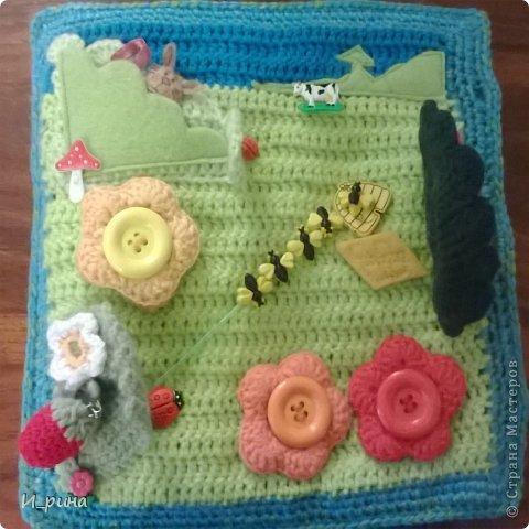 Раннее развитие Вязание Шитьё Вязаная развивающая книжка-игрушка Пряжа Пуговицы Фетр фото 11