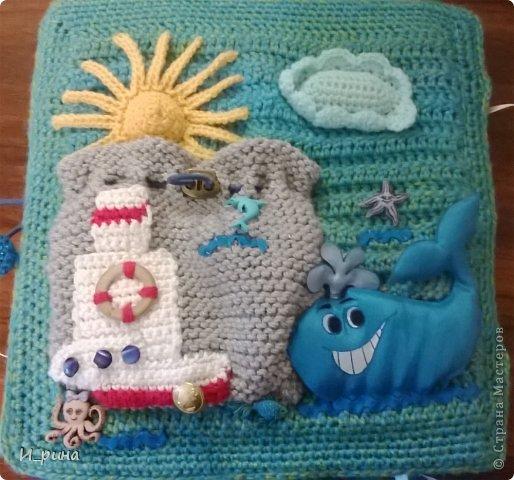 Раннее развитие Вязание Шитьё Вязаная развивающая книжка-игрушка Пряжа Пуговицы Фетр фото 24