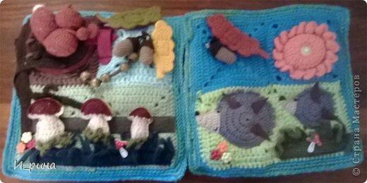 Раннее развитие Вязание Шитьё Вязаная развивающая книжка-игрушка Пряжа Пуговицы Фетр фото 15