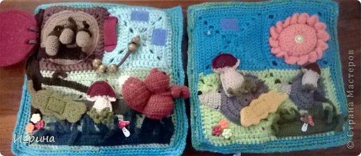 Раннее развитие Вязание Шитьё Вязаная развивающая книжка-игрушка Пряжа Пуговицы Фетр фото 16