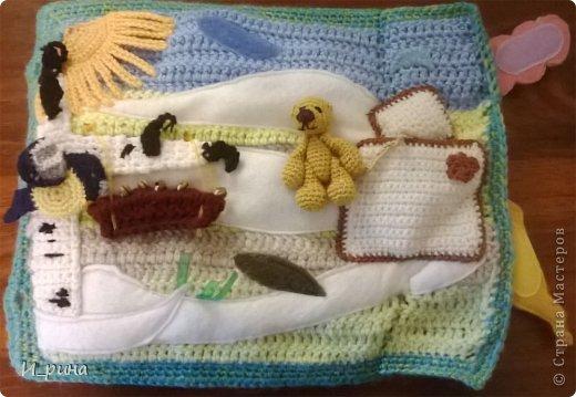 Раннее развитие Вязание Шитьё Вязаная развивающая книжка-игрушка Пряжа Пуговицы Фетр фото 8