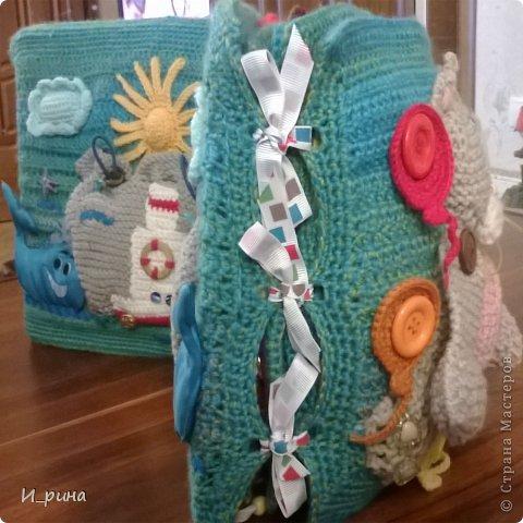 Раннее развитие Вязание Шитьё Вязаная развивающая книжка-игрушка Пряжа Пуговицы Фетр фото 2