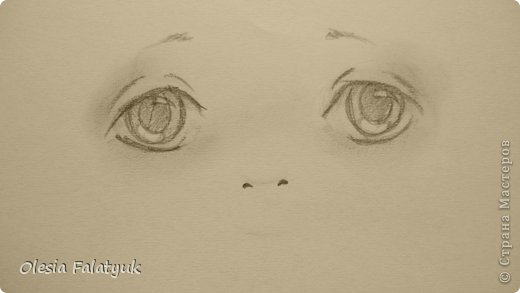Рисовать лицо. Дети, куклы. фото 12