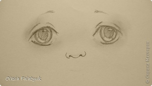 Рисовать лицо. Дети, куклы. фото 13