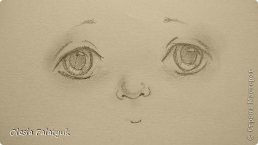 Рисовать лицо. Дети, куклы. фото 15