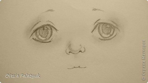 Рисовать лицо. Дети, куклы. фото 16