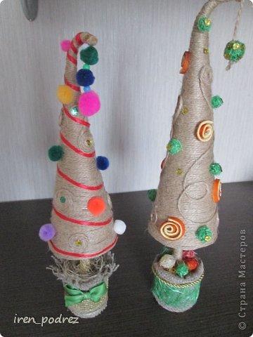 Поделка изделие Новый год Моделирование конструирование В преддверии Нового года  Гипс Ткань Шпагат фото 1