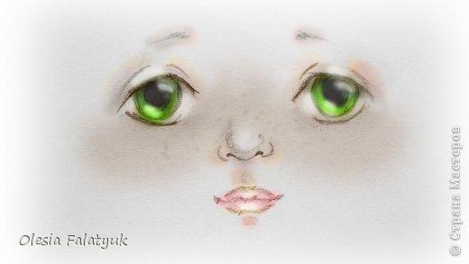 Рисовать лицо. Дети, куклы. фото 1
