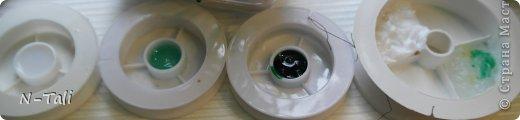 Итак, дома нашлось: 1. Лак акриловый, прозрачный, глянцевый. 2. Клей Момент Кристалл. 3. Лак паркетный, бесцветный, глянцевый. 4. Клей БФ-6, медицинский 5. Детские витражные краски (ну на стекле то они почти прозрачные) 6. Герметик силиконовый, прозрачный 7. Жидкие гвозди (Момент кажется), тоже прозрачный вариант. 8. Клей Титан (купила, пока эпоксидку искала, на всякий случай) В роли емкостей - бабинки от проволоки, толщина заливаемого слоя примерно 5мм (до краев). Фото после заливки и фото через 5 дней (что высохло) ) В процессе заливки насыпала всякие блестяшки, бусинки, пыталась подкрасить витражными красками. В общем, смотрите сами что получилось (фоток много)))) фото 1