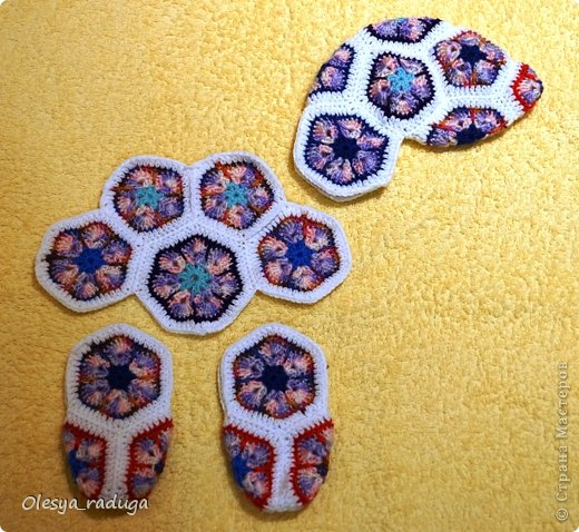 Мастер-класс Новый год Вязание МК по лошадке из мотивов африканский цветок Нитки фото 10