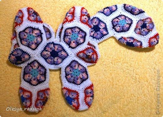 Мастер-класс Новый год Вязание МК по лошадке из мотивов африканский цветок Нитки фото 12