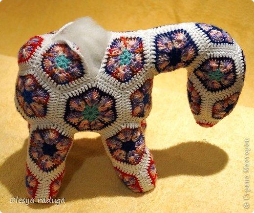 Мастер-класс Новый год Вязание МК по лошадке из мотивов африканский цветок Нитки фото 14
