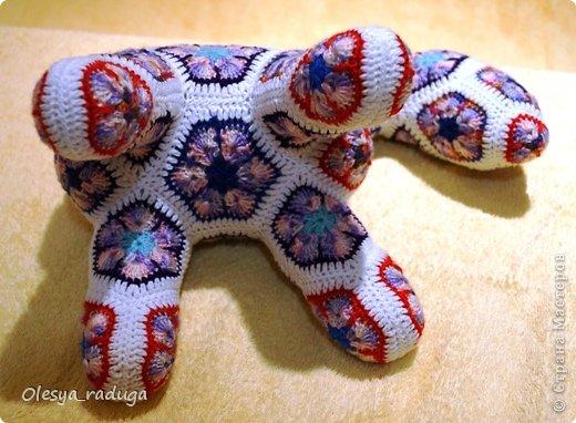 Мастер-класс Новый год Вязание МК по лошадке из мотивов африканский цветок Нитки фото 16