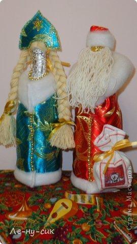 Дед мороз и снегурочка своими руками из бутылок