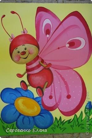 Вот такая красотулька нарисовалась летом.  Размер 40х50 см, краски акрил. Живёт теперь в Москве и, надеюсь, радует свою хозяйку.  фото 1