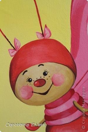 Вот такая красотулька нарисовалась летом.  Размер 40х50 см, краски акрил. Живёт теперь в Москве и, надеюсь, радует свою хозяйку.  фото 3