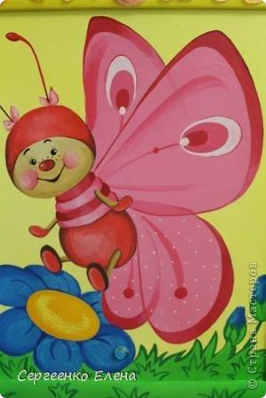 Вот такая красотулька нарисовалась летом.  Размер 40х50 см, краски акрил. Живёт теперь в Москве и, надеюсь, радует свою хозяйку.  фото 4